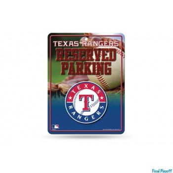 Texas Rangers metal parking sign | Final Playoff