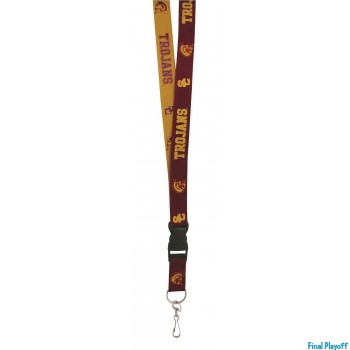 USC Trojans lanyard keychain detachable 2 tone | Final Playoff