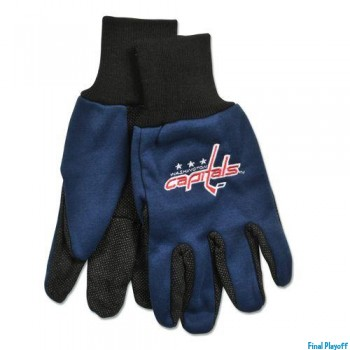 Washington Capitals two tone utility gloves | Final Playoff
