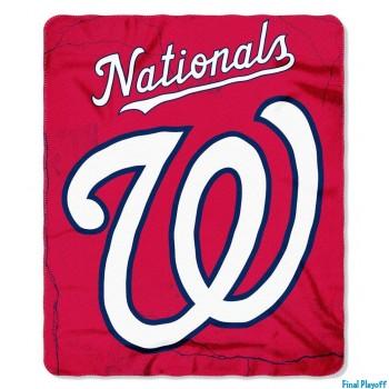 Washington Nationals fleece throw blanket | Final Playoff
