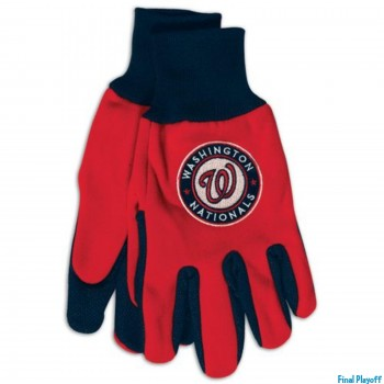 Washington Nationals two tone utility gloves | Final Playoff