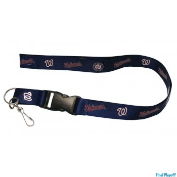 Washington Nationals lanyard keychain detachable | Final Playoff