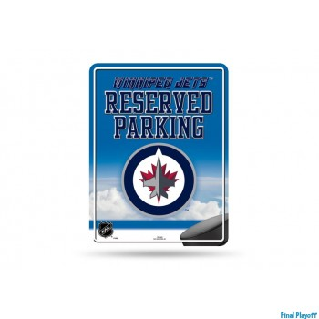 Winnipeg Jets metal parking sign | Final Playoff