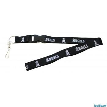 Anaheim Angels lanyard keychain detachable black | Final Playoff