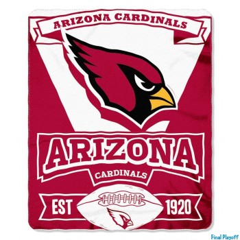 Arizona Cardinals fleece throw blanket | Final Playoff
