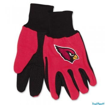Arizona Cardinals two tone utility gloves | Final Playoff