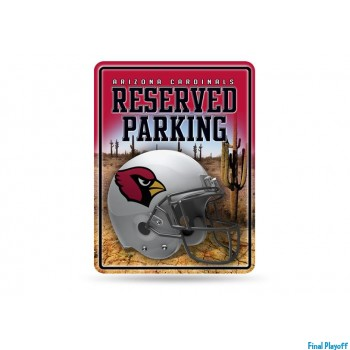 Arizona Cardinals metal parking sign   Final Playoff