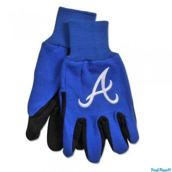 Atlanta Braves two tone utility gloves | Final Playoff