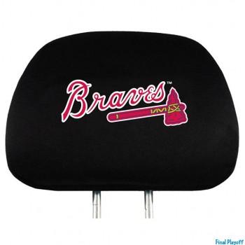 Atlanta Braves headrest covers 2pc | Final Playoff