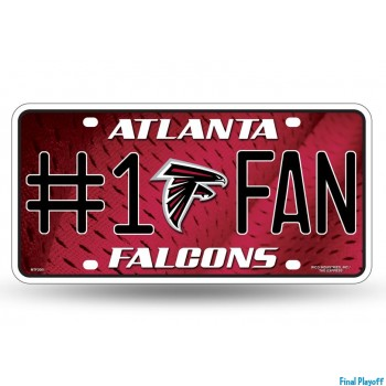 Atlanta Falcons metal license plate   Final Playoff