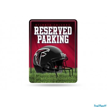 Atlanta Falcons metal parking sign | Final Playoff
