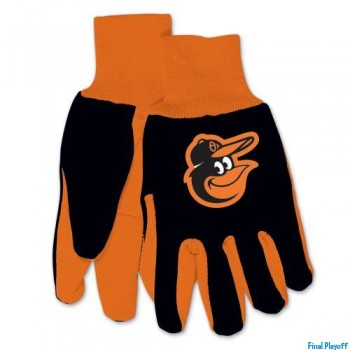 Baltimore Orioles two tone utility gloves | Final Playoff