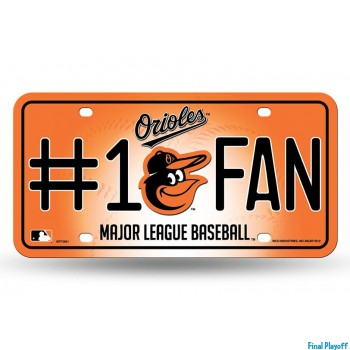 Baltimore Orioles metal license plate | Final Playoff