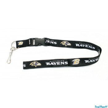 Baltimore Ravens lanyard keychain detachable | Final Playoff