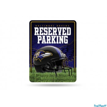 Baltimore Ravens metal parking sign   Final Playoff