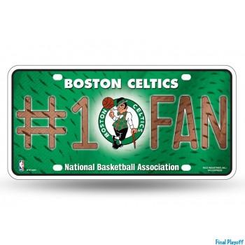 Boston Celtics metal license plate   Final Playoff