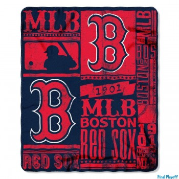 Boston Red Sox fleece throw blanket | Final Playoff