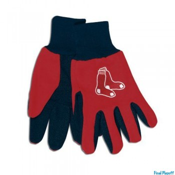 Boston Red Sox two tone utility gloves | Final Playoff