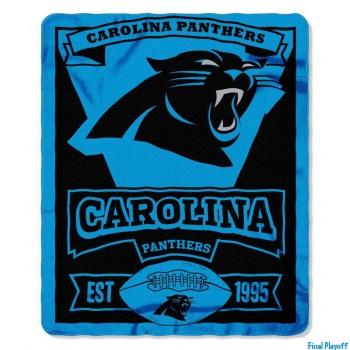Carolina Panthers fleece throw blanket | Final Playoff