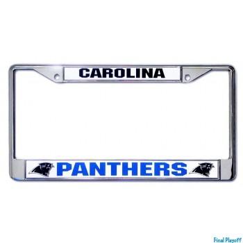 Carolina Panthers license plate frame holder | Final Playoff