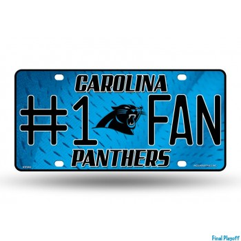 Carolina Panthers metal license plate | Final Playoff
