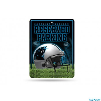 Carolina Panthers metal parking sign | Final Playoff