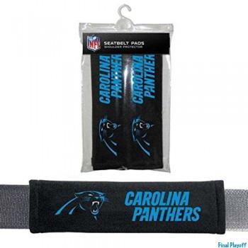 Carolina Panthers seat belt pads   Final Playoff
