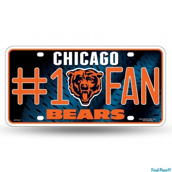 Chicago Bears metal license plate | Final Playoff