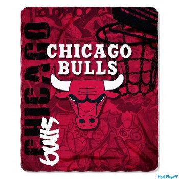 Chicago Bulls fleece throw blanket | Final Playoff