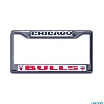Chicago Bulls license plate frame holder | Final Playoff