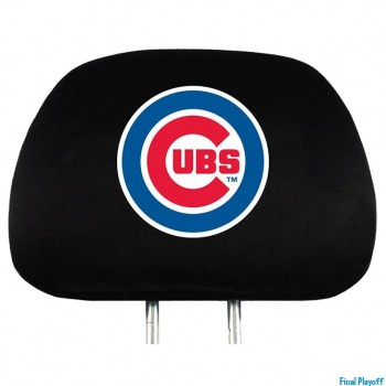 Chicago Cubs headrest covers 2pc | Final Playoff