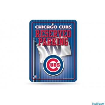 Chicago Cubs metal parking sign   Final Playoff