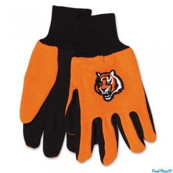 Cincinnati Bengals two tone utility gloves | Final Playoff