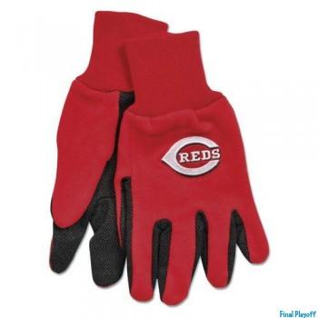 Cincinnati Reds two tone utility gloves | Final Playoff