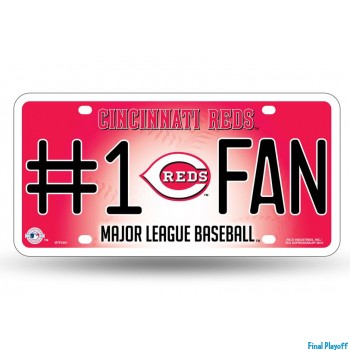 Cincinnati Reds metal license plate   Final Playoff