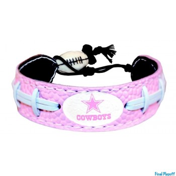 Dallas Cowboys leather bracelet pink | Final Playoff