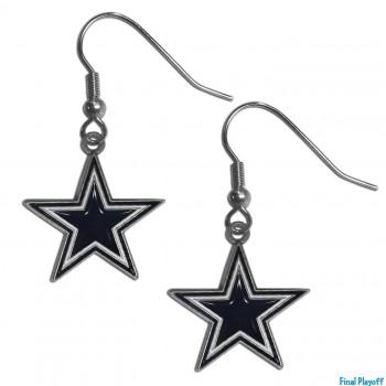 Dallas Cowboys dangle earrings | Final Playoff