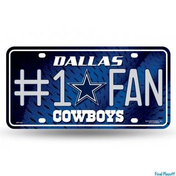 Dallas Cowboys metal license plate   Final Playoff