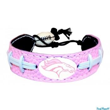 Denver Broncos leather bracelet pink | Final Playoff