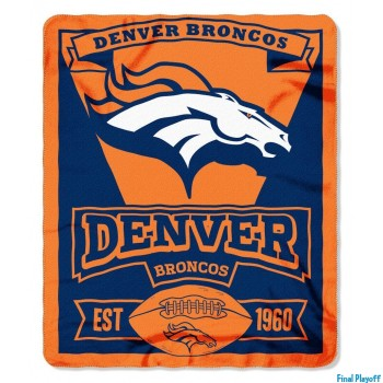 Denver Broncos fleece throw blanket | Final Playoff