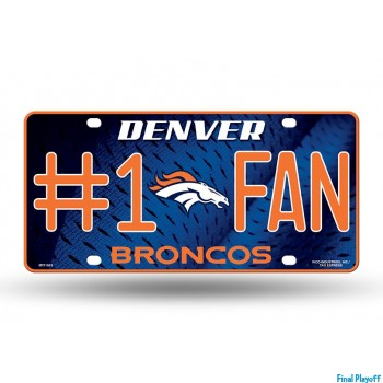 Denver Broncos metal license plate | Final Playoff