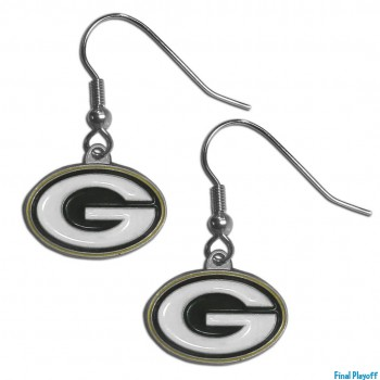 Green Bay Packers dangle earrings   Final Playoff