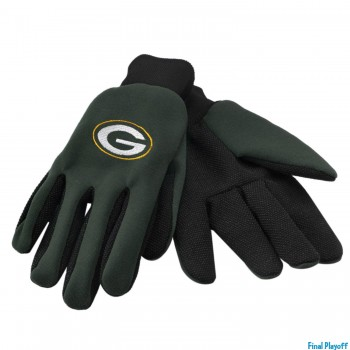 Green Bay Packers utility gloves | Final Playoff
