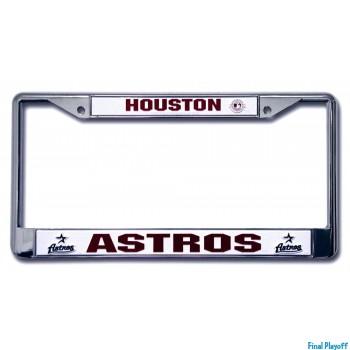 Houston Astros license plate frame holder | Final Playoff