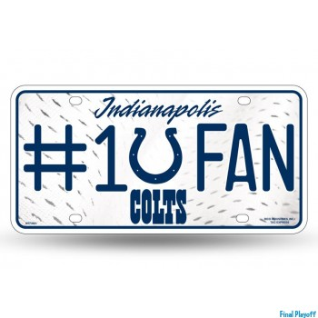Indianapolis Colts metal license plate | Final Playoff