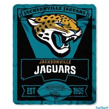 Jacksonville Jaguars fleece throw blanket | Final Playoff