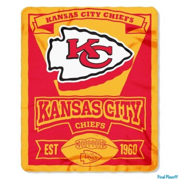 Kansas City Chiefs fleece throw blanket | Final Playoff