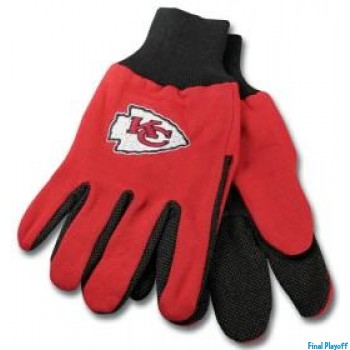 Kansas City Chiefs two tone utility gloves | Final Playoff