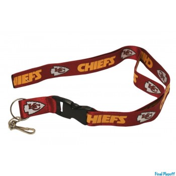 Kansas City Chiefs lanyard keychain detachable | Final Playoff