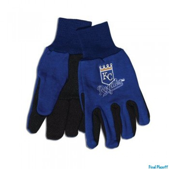 Kansas City Royals two tone utility gloves | Final Playoff